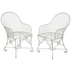 Pair of Wire Chairs