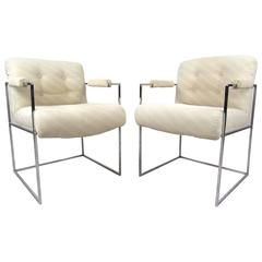 Pair of Thin Line Armchairs by Milo Baughman