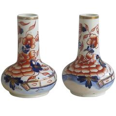 Early Pair of Mason's Scent or Perfume Bottles in Fence Japan pattern, Ca 1825