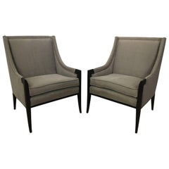 Pair of Attributed Edward Wormley for Dunbar Club Chairs