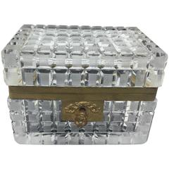 Baccarat Ormolu and Crystal Box
