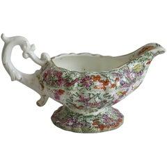 Mason's Cream or Milk Jug Porcelain Cashmire De Thibet Pattern, Circa 1832