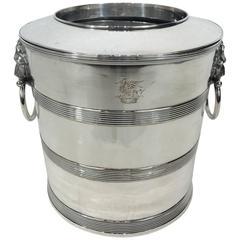 Regency Sheffield Plated Bucket Motif Wine Bucket