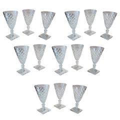 Set of 14 Antique Wine Glasses