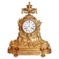 19th Century French Louis XV Clock by Raingo Freres