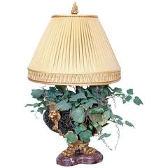 19th Century Patinated and Gilt Bronze Planter, Made into Lamp