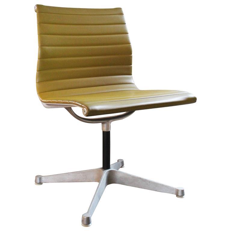 mid century vintage herman miller aluminum group side chair charles