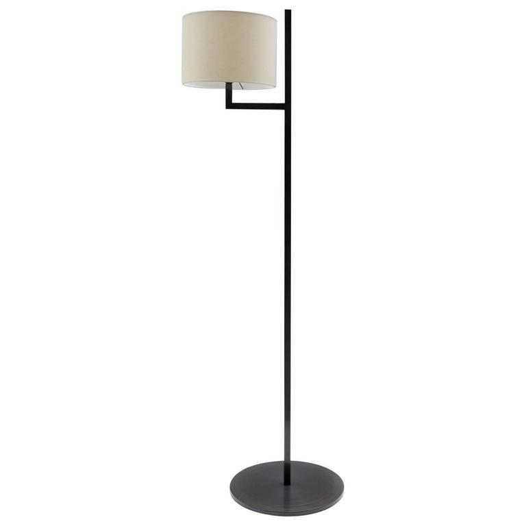 Cuatro Blackened Steel Floor Lamp For Sale