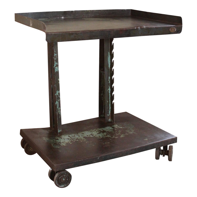Industrial Bar Cart Bar Cart Kitchen Cart Serving Cart: Vintage Industrial Steel Rolling