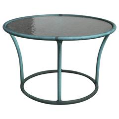 Bronze and Pebble Glass Side Table by Kipp Stewart for Terra