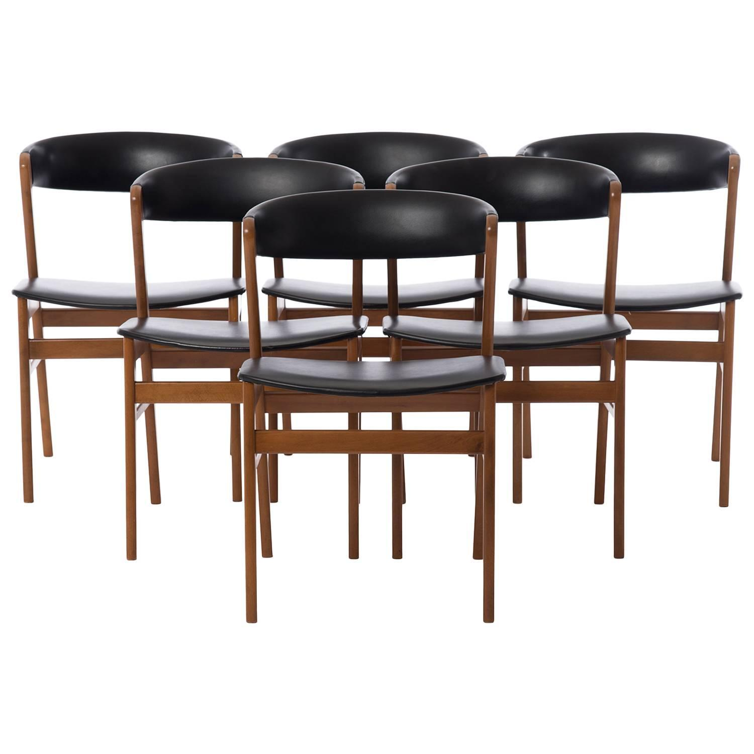 Danish Modern Horseshoe Back Dining Chairs For Sale at 1stdibs