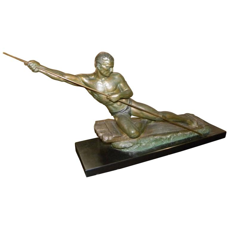 Male Warrior Art Deco Sculpture by Cipriani
