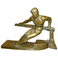 Art Deco Sculpture of a Boatman by Georges Gori