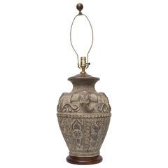 Tribal Terracotta Clay Pottery Vessel as Lamp