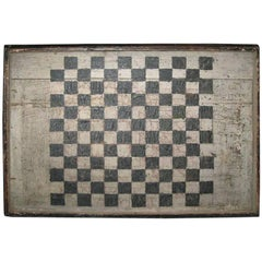 Hand-Painted Antique Game Board