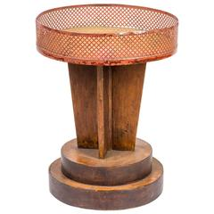 1920s French Deco Round Top Occasional Table or Plant Stand