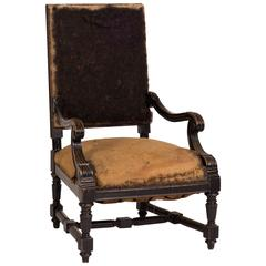 Late 19th Century French Deconstructed Upholstered Arm Chair