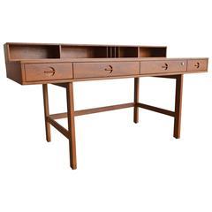 Teak Flip-Top Partners Desk by Jens Quistgaard for Peter Løvig, circa 1960
