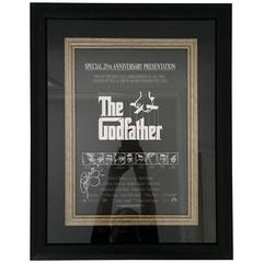 "2001 Al Pacino Autographed 25th Anniversary ""The Godfather"" Movie Poster"