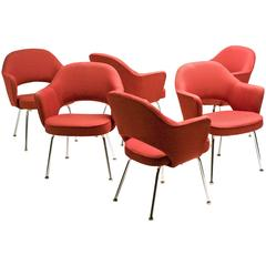 Set of Six Eero Saarinen Series 71 Executive Armchairs for Knoll