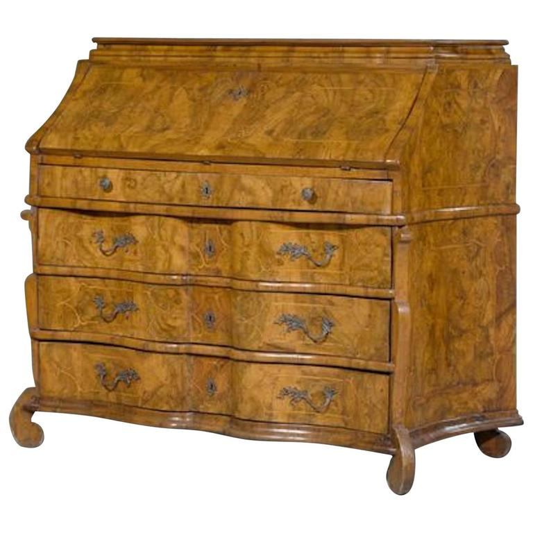 baroque bureau desk northern italy lombardy circa 1720 for sale at 1stdibs. Black Bedroom Furniture Sets. Home Design Ideas