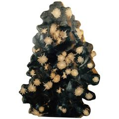 "Magnificent Tall Starry Nights Natural Chrysanthemum Stone Sculpture, 63"" High"
