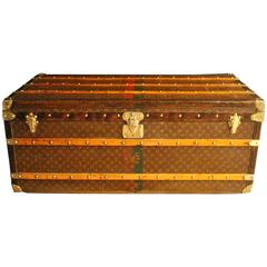 1920s Very Long Louis Vuitton Steamer Trunk