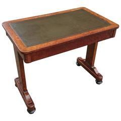 Rare and Important Regency Writing Table Made of Expensive Aboyna Wood