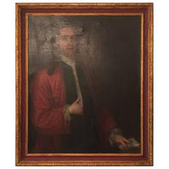 Large 19th Century Oil Painting of English Gentleman