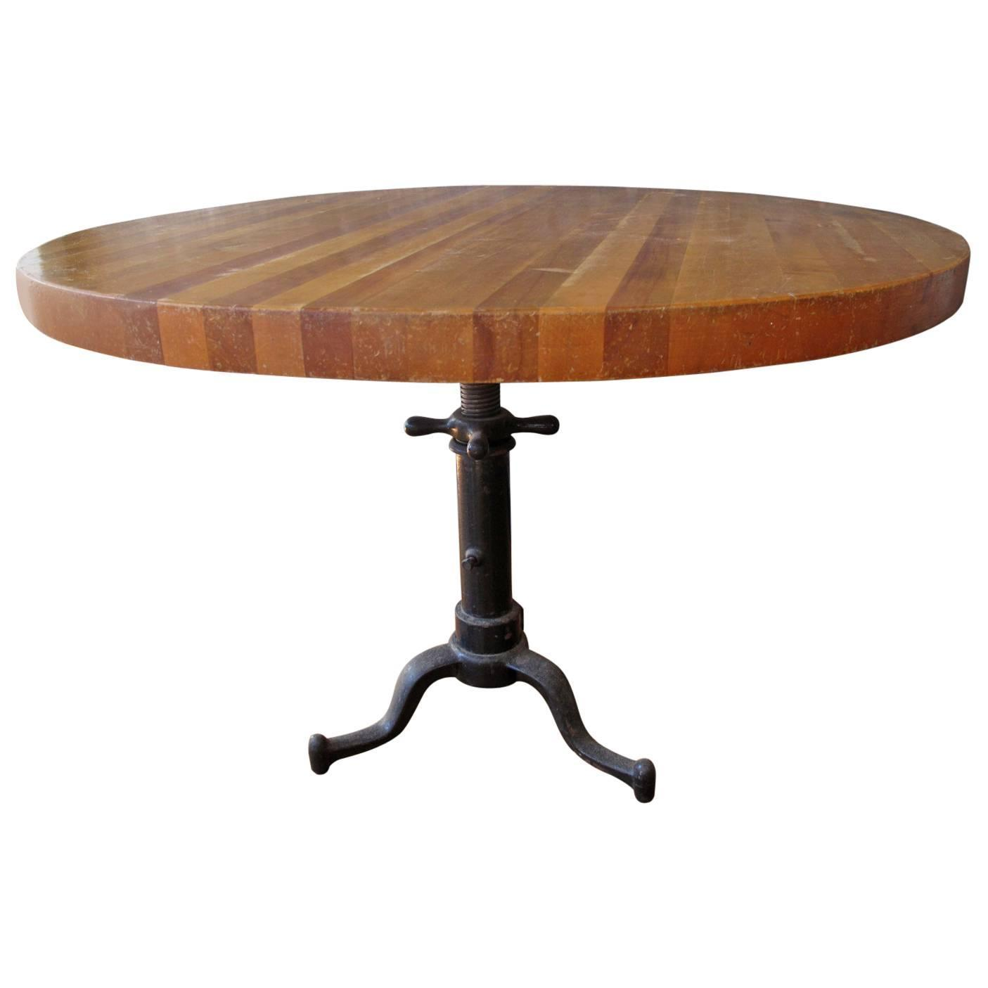 20th century industrial butcher block table at 1stdibs