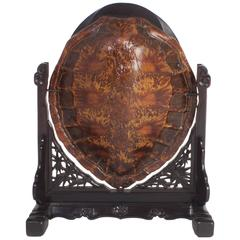 19th Century Antique Chinese Turtle Shell Vanity Mirror
