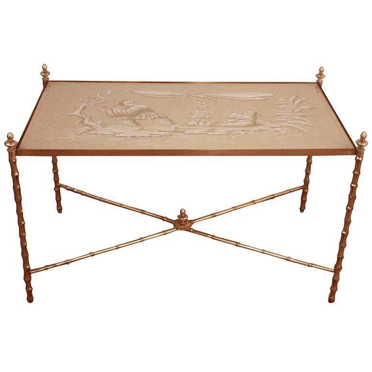 Elegant Bamboo Design Coffee Table For Sale At 1stdibs