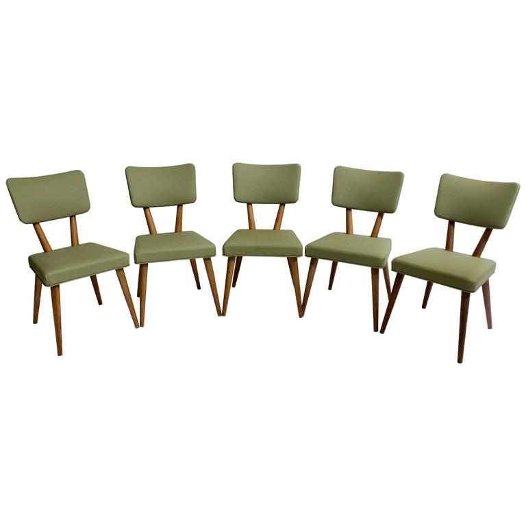 set of five mcm dining chairs by meier and pohlmann co at