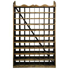 19th Century Pine Large Wall Hanging Mercantile Mail Sorter