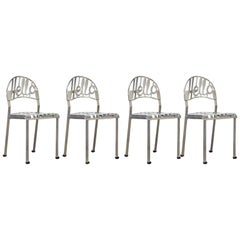 1960, Jeremy Harvey, Four 'Hello There' Chairs, Chrome-Plated