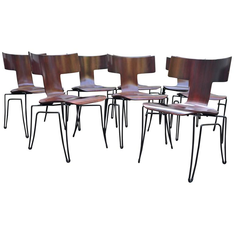 Anziano Dining Chairs By John Hutton For Donghia For Sale