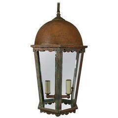 Copper Verdigris Six Panel Lantern
