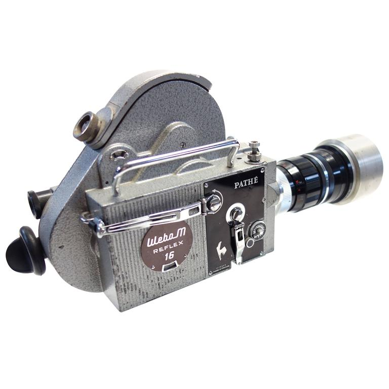 Pathe Motion Picture Camera Mounted on Glass Circa Mid-20th As Sculpture ON SALE