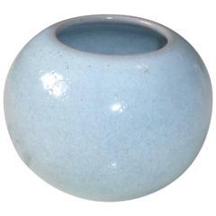 Bowl Glazed Celadon Ceramic Vase by Paul Badié, France, 1980s