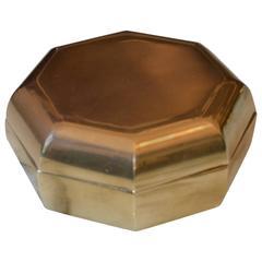 Decorative Octagonal Bronze Bowl by Esa Fegdrigolli, Italy, 1970s