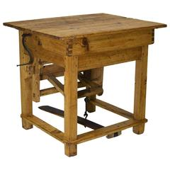 18th Century Austrian Table Mangle or Clothes Press