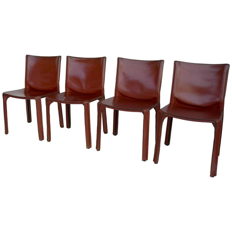 Four Cab Dining Chairs By Mario Bellini For Cassina For
