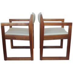 Stylish Mid-Century Edward Wormley Style Armchairs