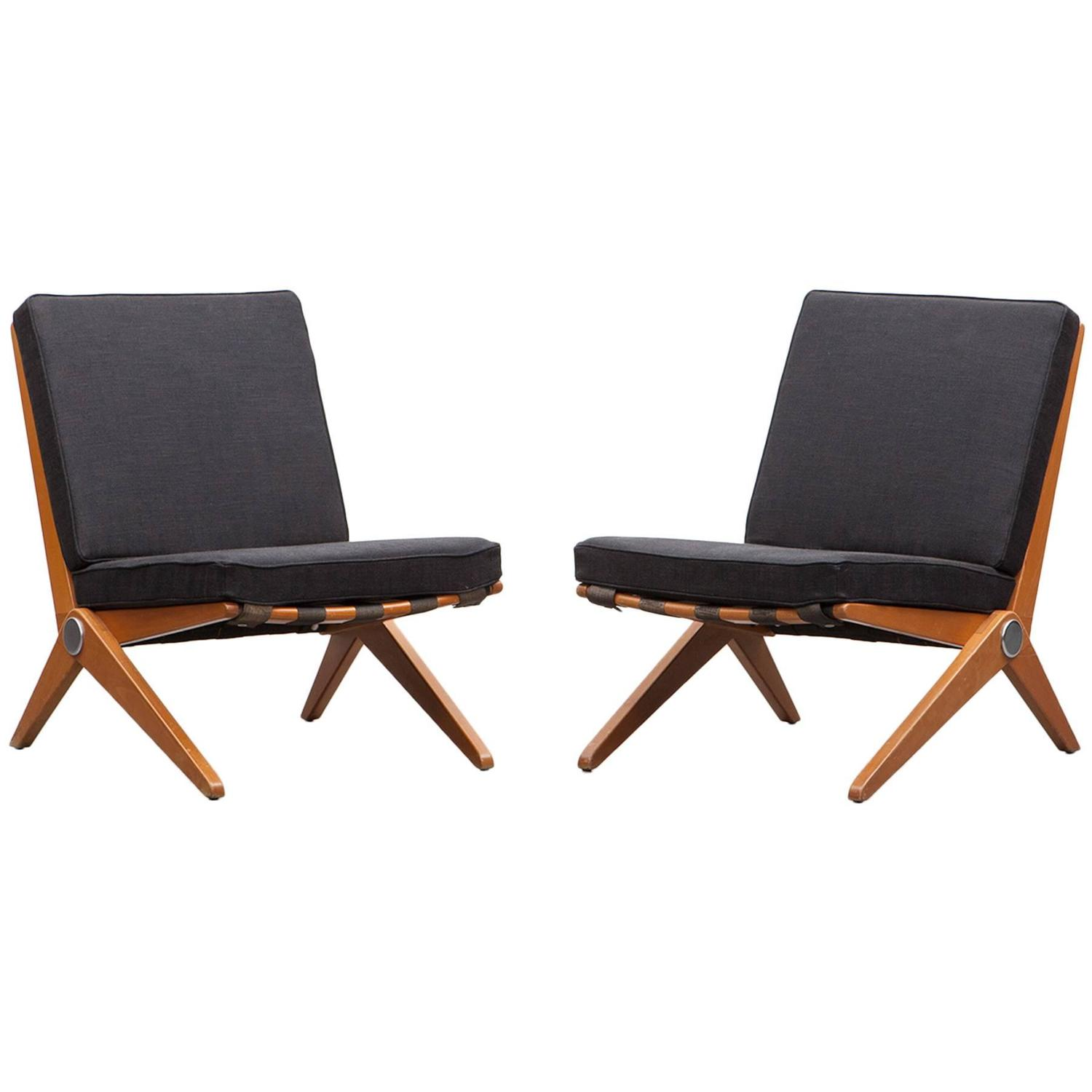Pair of Pierre Jeanneret Easy Chair b New Upholstery For – Pierre Chair