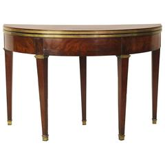 French Directoire Mahogany Games Table