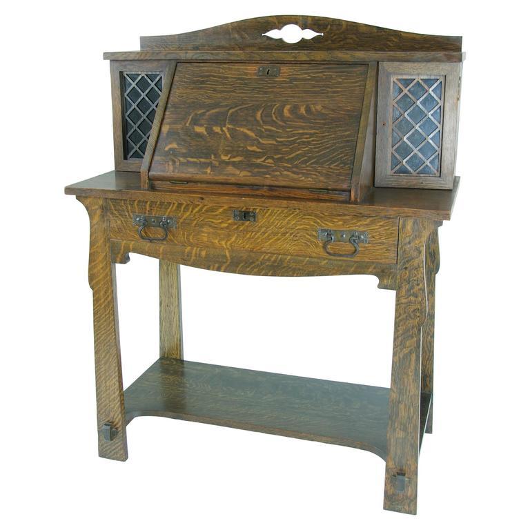 Mission Desks Craftsman Arts And Crafts Stickley Style Puter Desk The Old Cinema Antique Furniture Oak