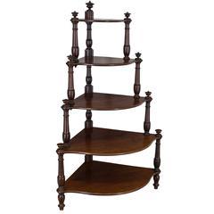 19th Century Belgian Ètagerè or Corner Shelves