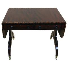 Regency Mahogany Sofa Table with Coromandel Cross Banding