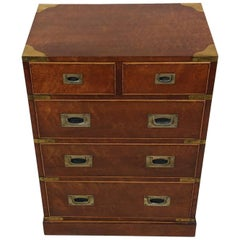 Early 20th Century Satinwood Brass Bound Trunk