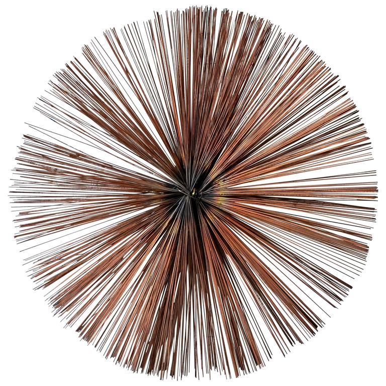 Exceptional Starburst Wall Sculpture For Sale